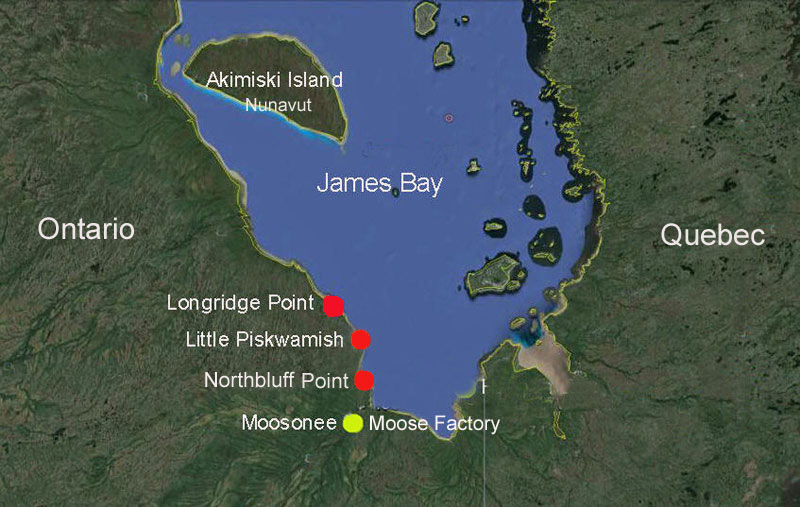 Map Of Canada James Bay.Map Of 2018 James Bay Shorebird Camps